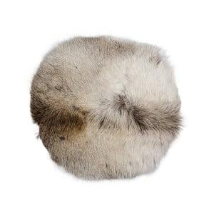 Hnedo-biely podsedák/vankúš zo sobej kože Arctic Fur Davam, 35 × 35 cm