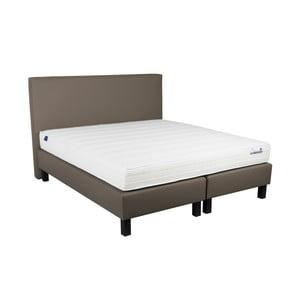 Béžová boxspring posteľ Revor Domino, 200 x 180 cm