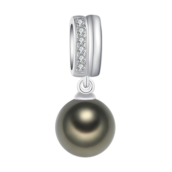 Náhrdelník so svetlozelenou perlou Pearls Of London Lady