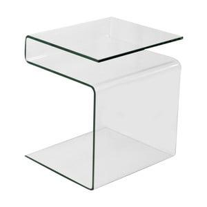 Variabilný sklenený odkladací stolík so stojanom na časopisy Evergreen House Esidra