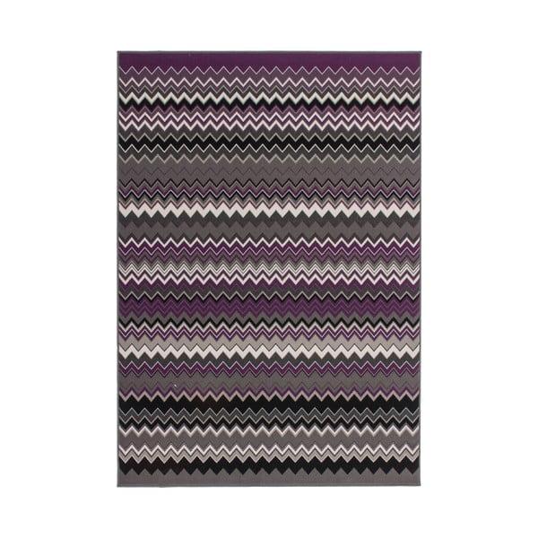 Fialovo-čierny koberec Kayoom Stella 700 Violet, 80x150cm