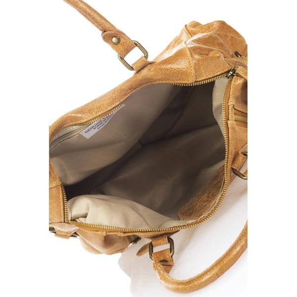 Kožená kabelka Kiara, koňaková