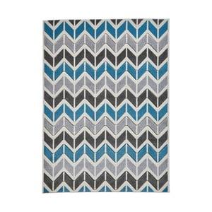 Sivomodrý koberec Think Rugs Matrix Ziggy, 160 x 220 cm