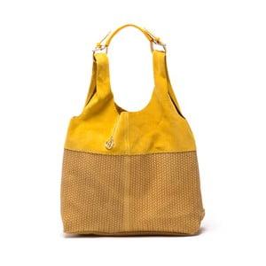 Kožená kabelka Mangotti 875 Giallo
