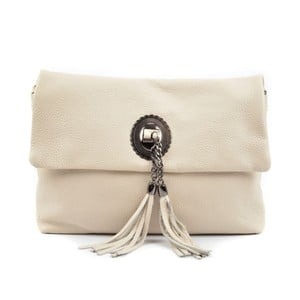 Svetlobéžová kožená kabelka Roberta M Musso