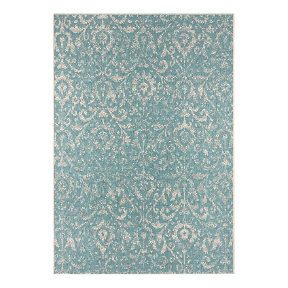 Tyrkysovo-béžový vonkajší koberec Bougari Hatta, 70 x 140 cm