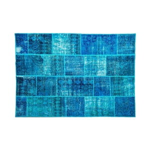 Vlnený koberec Allmode Dark Turkuaz, 150x80 cm