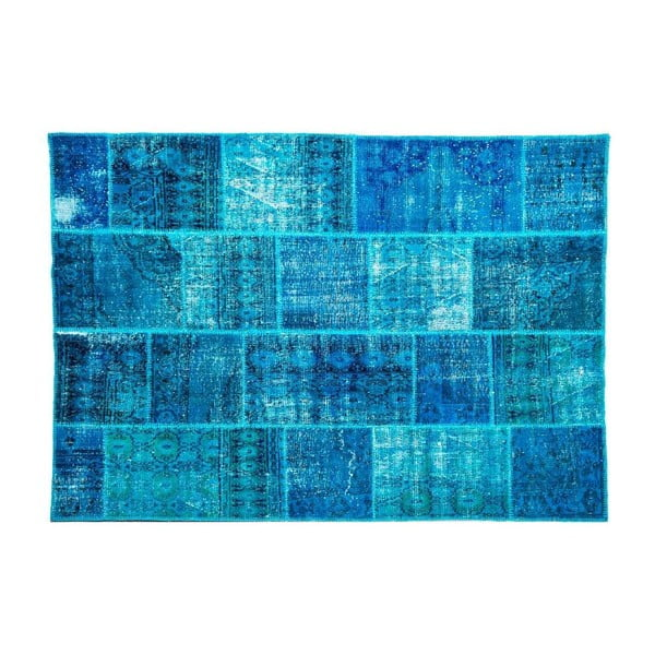 Vlnený koberec Allmode Dark Turkuaz, 200x140 cm