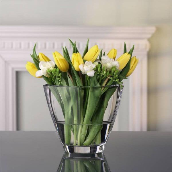 Váza z krištáľového skla Nachtmann Carré, výška 18,8 cm