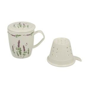 Porcelánový hrnček so sitkom a pokrievkou Duo Gift Lavender, 400ml