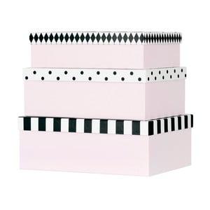 Sada 3 papierových úložných boxov Miss Étoile Open & Closed Eyes