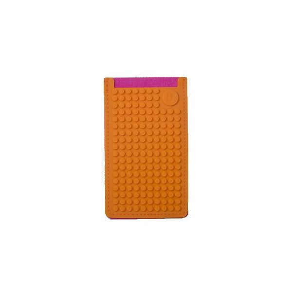 Univerzálny malý obal na telefón PixelArt, fuchsia/orange