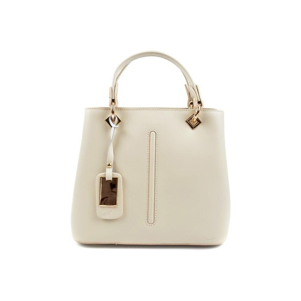 689201d72e Biela kožená kabelka do ruky Roberta M Lolly