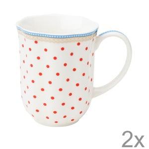Porcelánový hrnček na kávu Happy Dot od Lisbeth Dahl, 2 ks