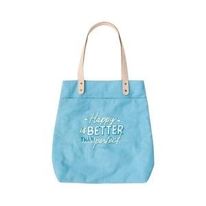 Modrá bavlnená taška Mr. Wonderful Perfect Titom