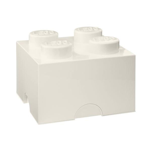 Biely úložný box štvorec LEGO®