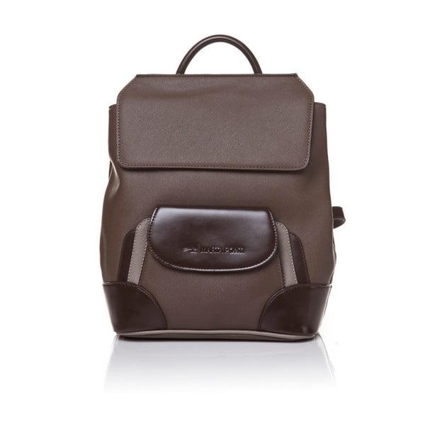 Kožený batoh Marta Ponti Aipee, svetlohnedá/tmavohnedá