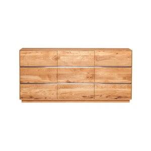 Trojdverová skrinka z dubového dreva Fornestas Hamilton