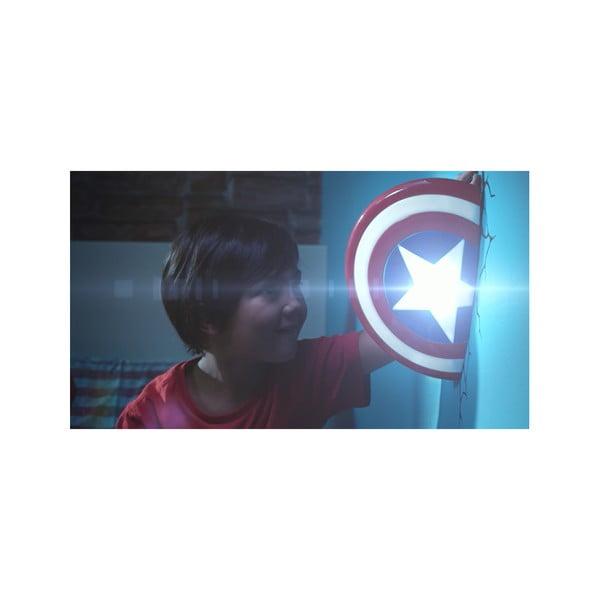 Detské 3D svetlo na stenu Štít Captain America