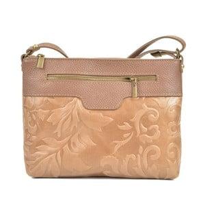 Béžová kožená kabelka Renata Corsi Mula
