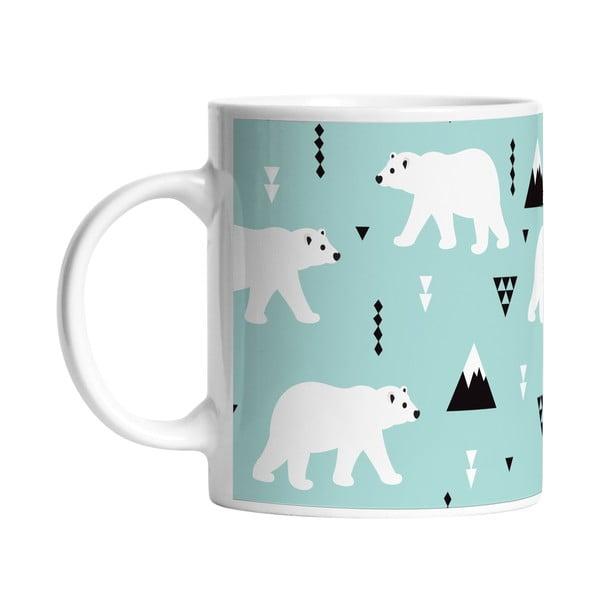 Keramický hrnček Polar Bears, 330 ml