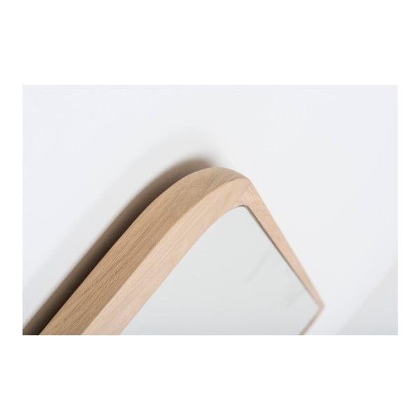 Nástenné zrkadlo z dubového dreva Gazzda Ena