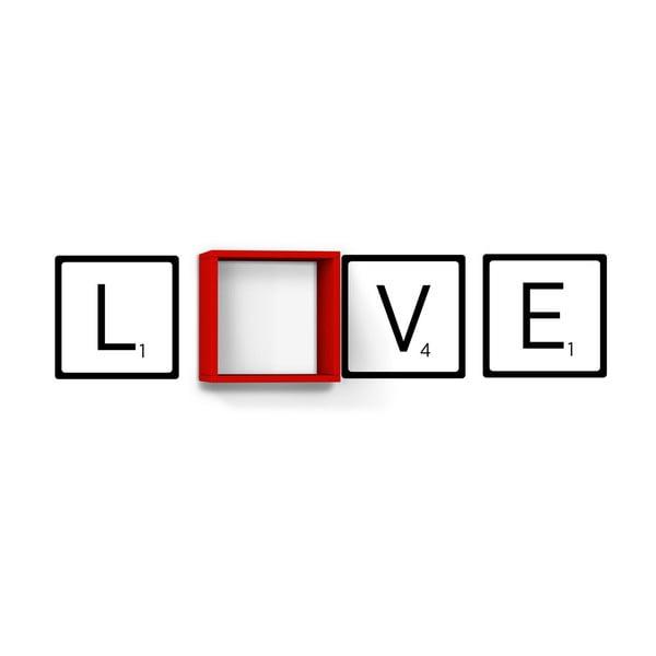 Polica Love Red