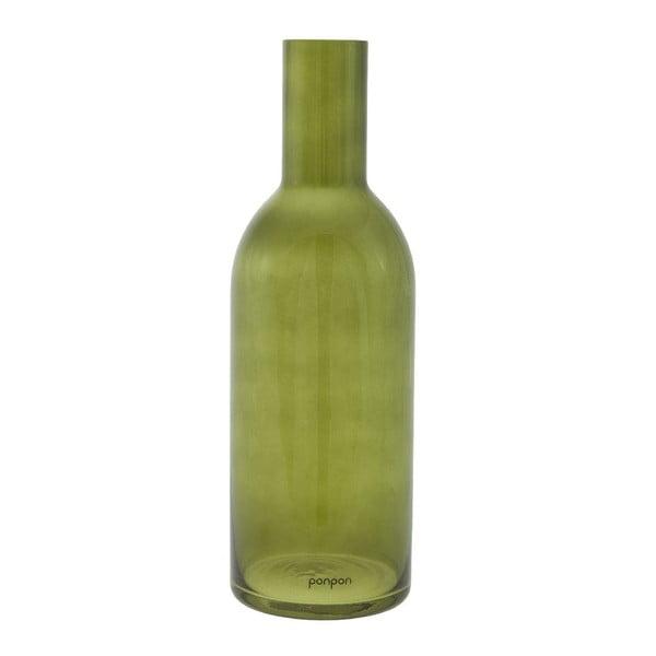 Váza/svietnik Bottle 36,8 cm, zelená
