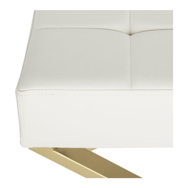 Stolička Safavieh X-Bench, biela