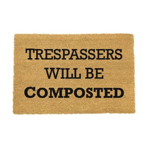 Rohožka Artsy Doormats Trespassers Will Be Composted, 40×60 cm