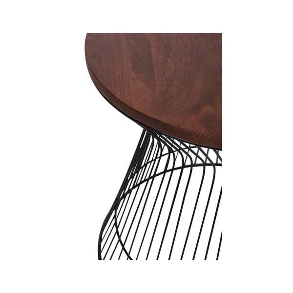 Odkládací stolík Hourglass Brown