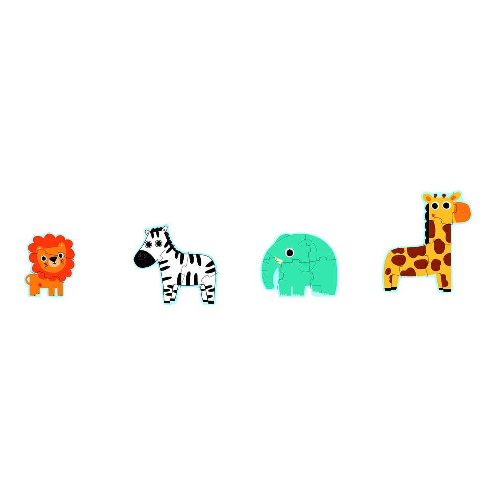Sada 4 detských puzzle Djeco Mini Jungle