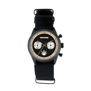 Pánske čierne hodinky s nylonovým remienkom Zadig & Voltaire Hemp
