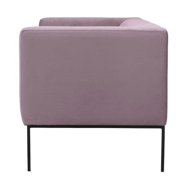 Svetloružová zamatová dvojmiestna pohovka Windsor & Co Sofas Neptune