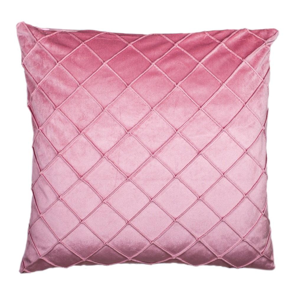 Ružový vankúš JAHU Alfa, 45 x 45 cm