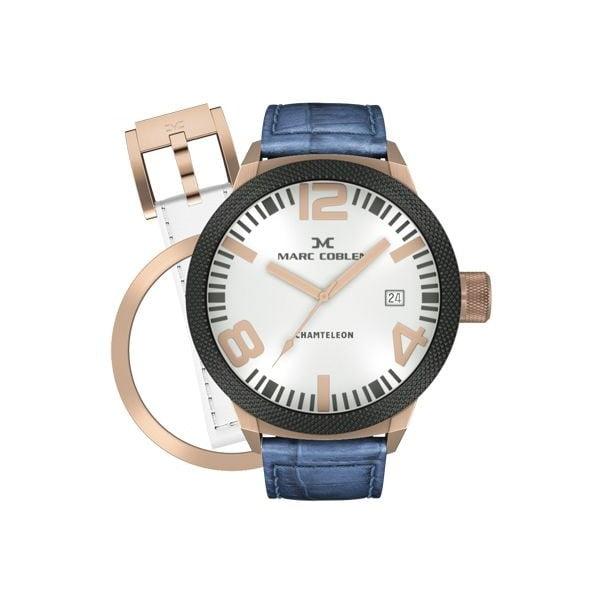 Pánske hodinky Marc Coblen s remienkom a krúžkom na ciferník naviac P37
