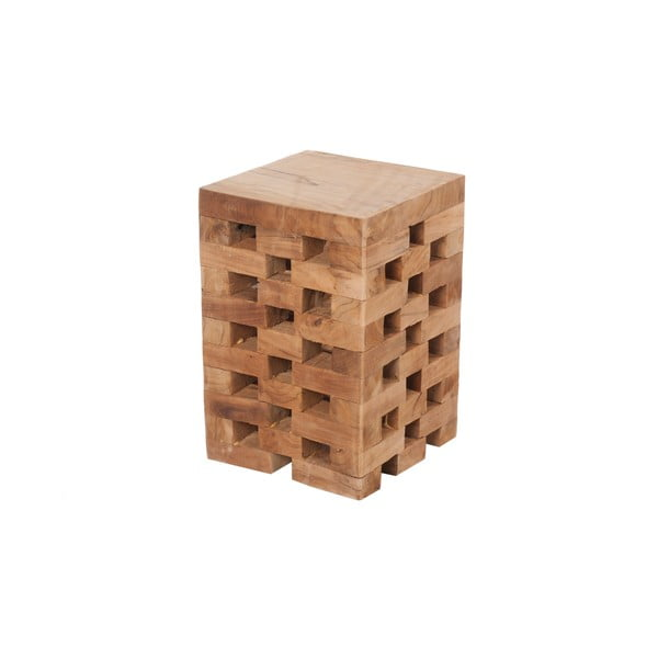 Stolík z teakového dreva  Dijk Natural Collections Mikael