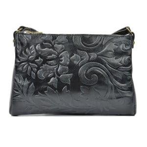 Černá kožená kabelka Carla Ferreri Buttera