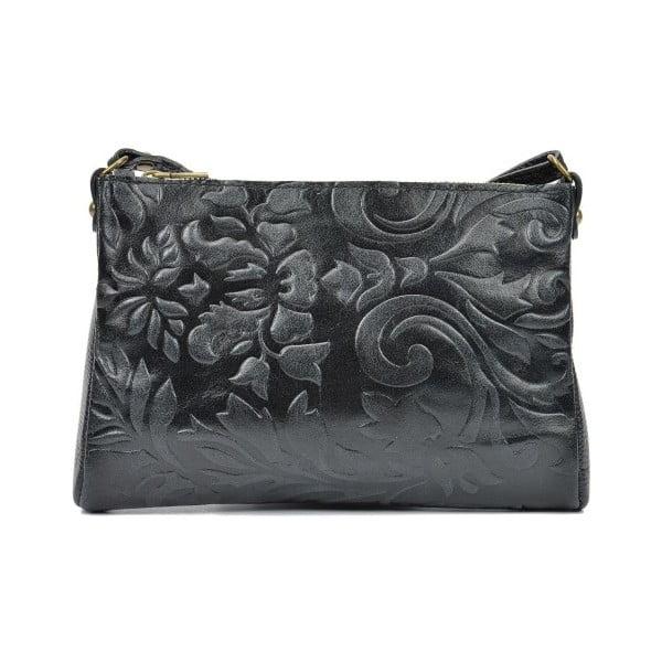 Čierna kožená kabelka Carla Ferreri Buttera