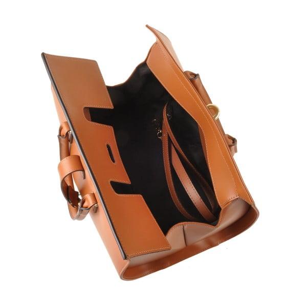 Kožená kabelka Emilio Masi Dabo, karamelová