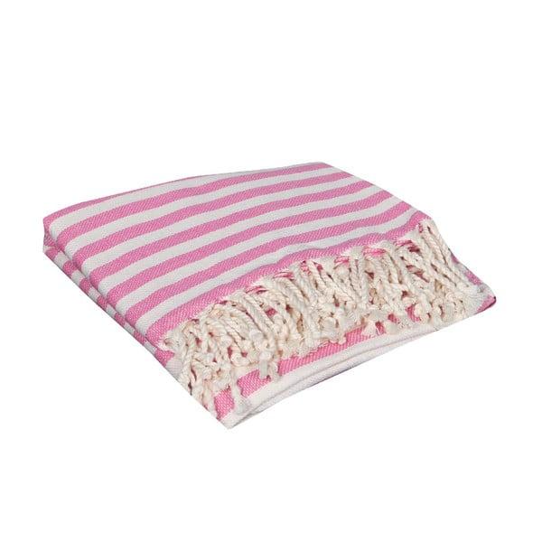 Ružová hammam osuška Akasya Pink, 90x190cm