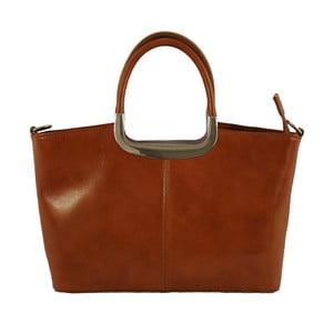 Hnedá kožená kabelka Gia