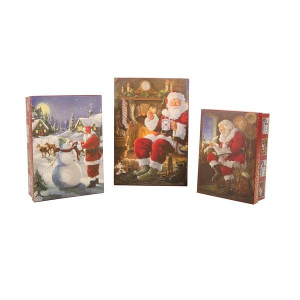 Sada 3 úložných krabíc Santa