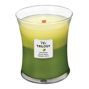 Vonná sviečka WoodWick Trilogy Oslava jabĺk, 275 g, 60 hodín