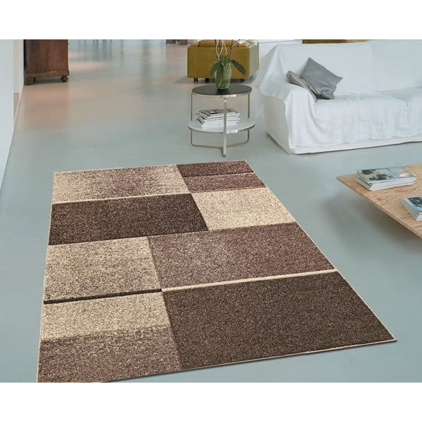 Koberec Webtappeti Intarsio Brown, 140×200cm