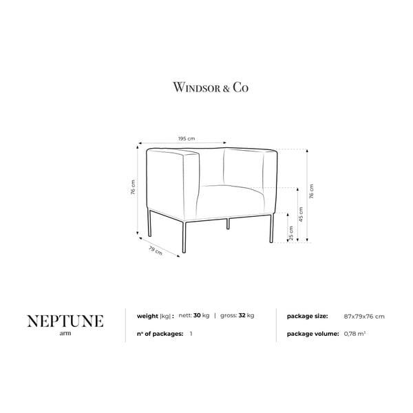 Petrolejovozelené zamatové kreslo Windsor & Co Sofas Neptune