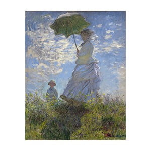 Obraz Claude Monet - Woman with a Parasol, 50x40 cm