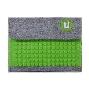 Pixelová peňaženka grey/grass green