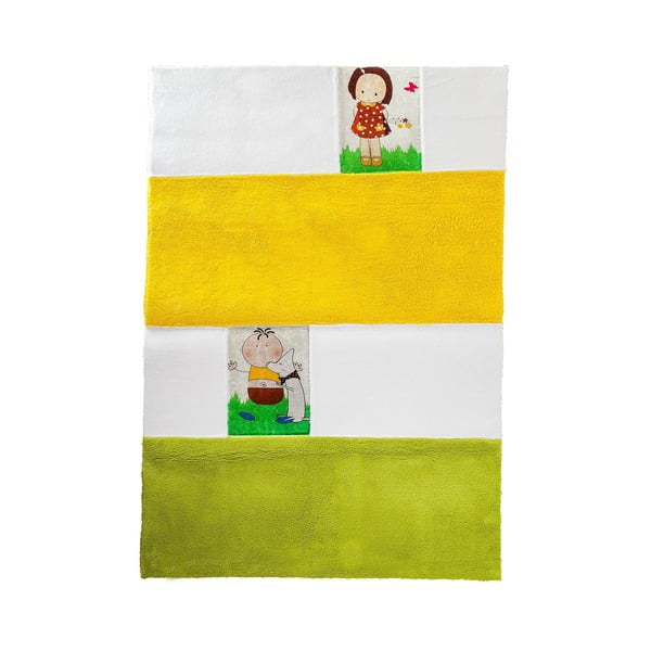Detský koberec Mavis Yellow and Green, 100x150 cm