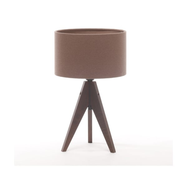 Stolná lampa Arist Cylinder Dark Taupe/Dark Brown